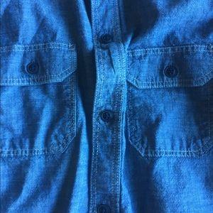 Boys Gap Kids Classic Blue Oxford Shirt Size XL